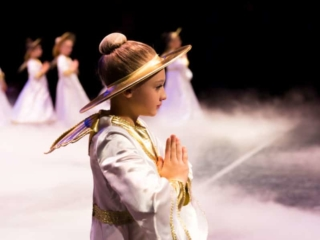 Angel from The Nutcracker Ballet praying.