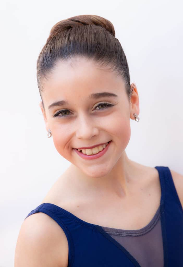 Headshot of a professional ballerina.